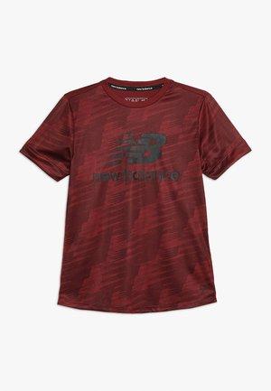 JUNIOR CAMO TEE - T-shirt imprimé - mercury red
