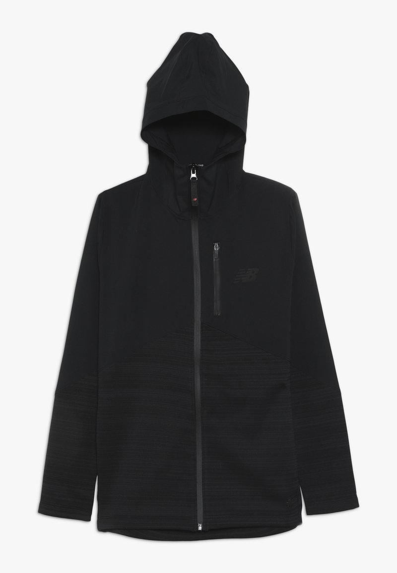 New Balance - JUNIOR FULL ZIP VECTOR SPEED TOP - Träningsjacka - black