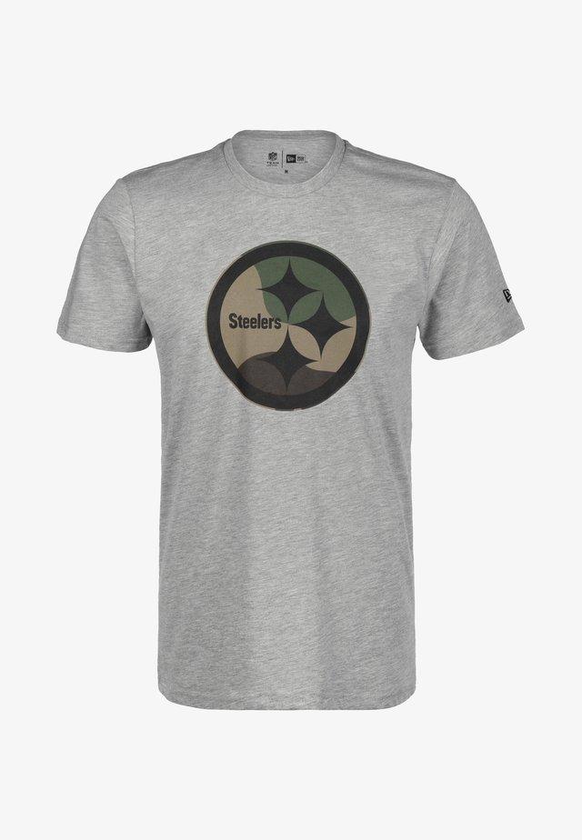 T-shirt print - light grey heather