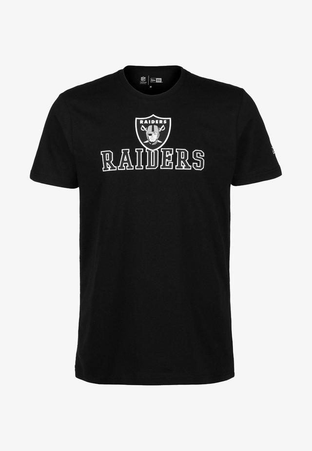 NFL OAKLAND RAIDERS ARCH WORDMARK - T-shirt print - black