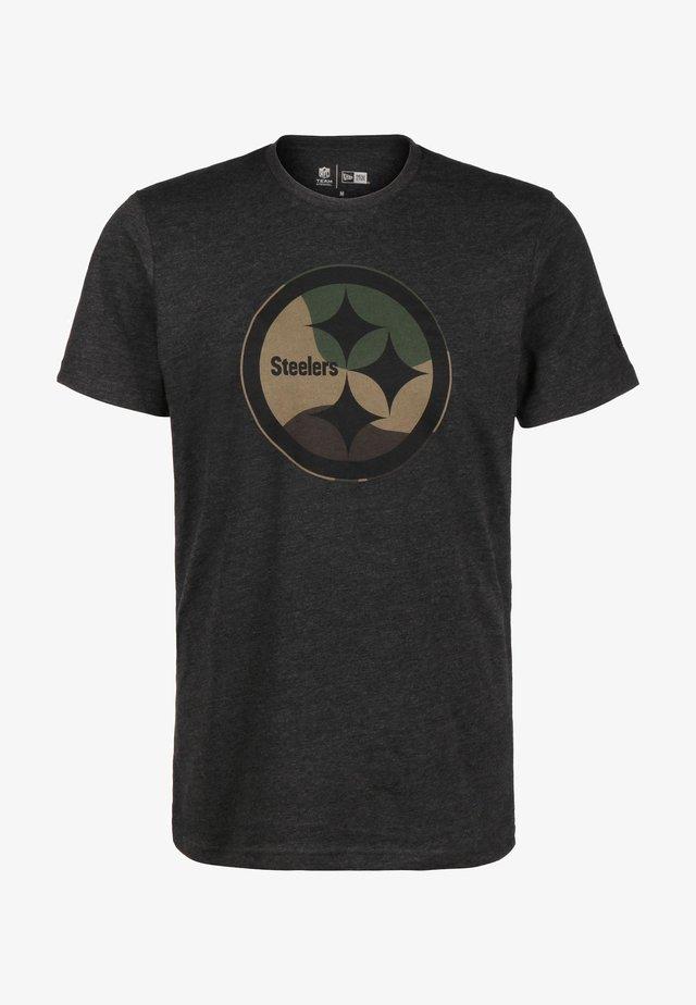 NFL PITTSBURGH STEELERS CAMO  - Print T-shirt - dark grey