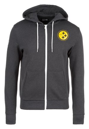 NFL LARGE GRAPHIC PITTSBURGH STEELERS KAPUZENSWEATJACKE HERREN - veste en sweat zippée - black