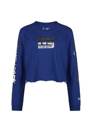 NFL NEW YORK GIANTS CROPPED LONGSLEEVE DAMEN - Sports shirt - blue