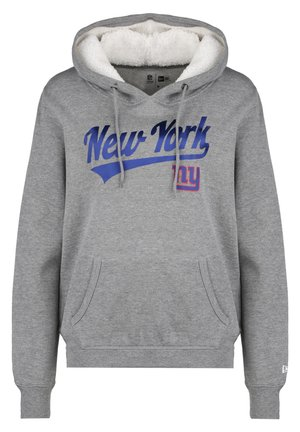 NEW ERA NFL NEW YORK GIANTS LOGO KAPUZENPULLOVER DAMEN - Sweatshirt - grey