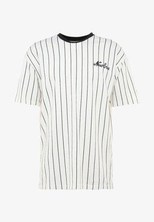 MLB NEW YORK YANKEES OVERSIZED PIN STRIPE - T-shirt med print - off white/navy