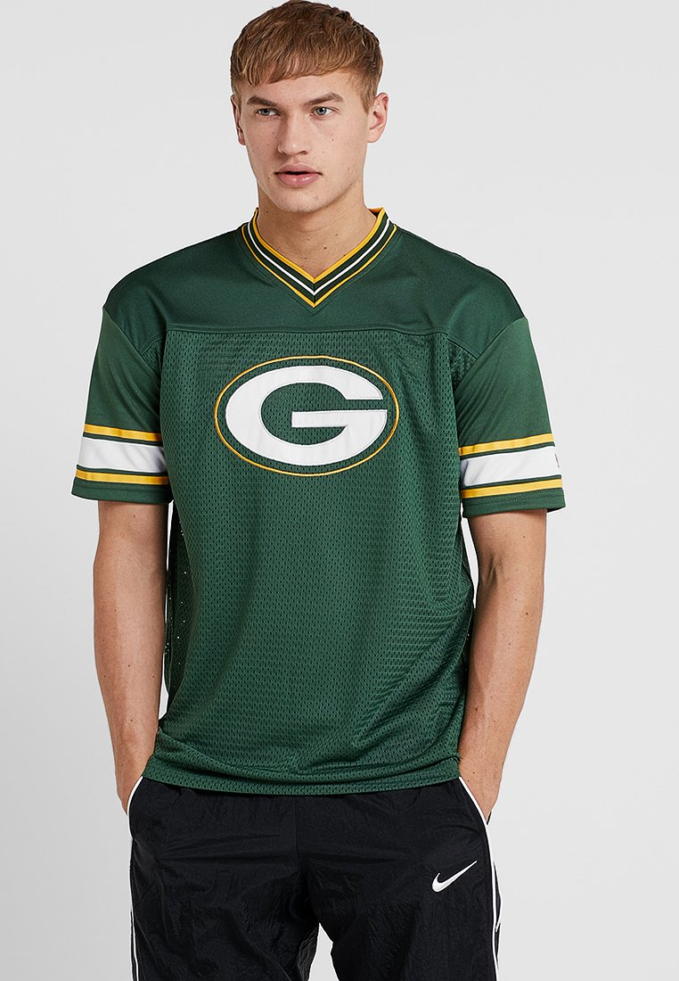 New Era - NFL GREEN BAY PACKERS OVERSIZED LOGO TEE - Klubové oblečení - green