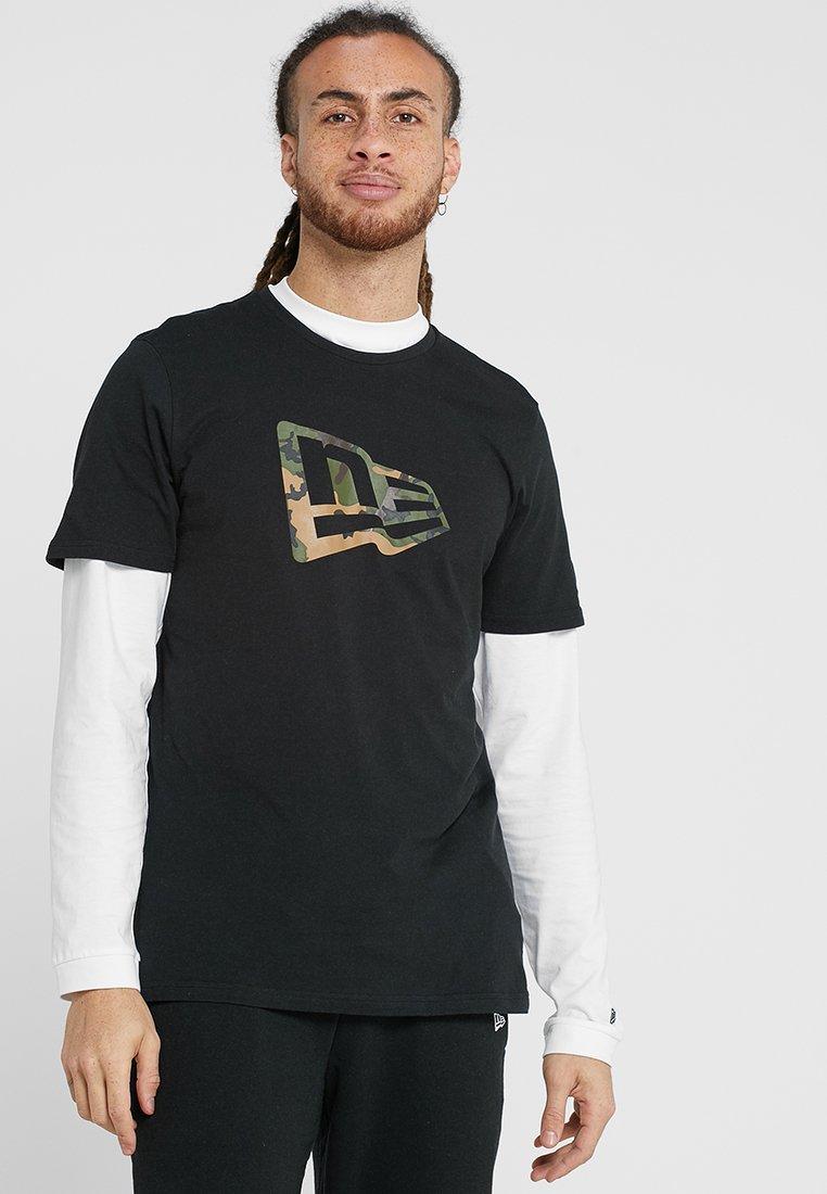 New Era - NEW ERA CAMO INFILL TEE - T-shirt print - black