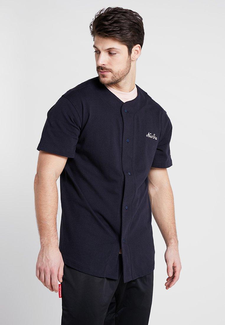 New Era - SCRIPT BUTTON UP - T-shirt print - navy