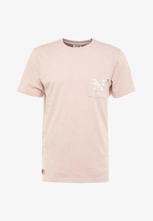 MLB VINTAGE POCKET LOGO TEE - T-shirt imprimé - mottled pink