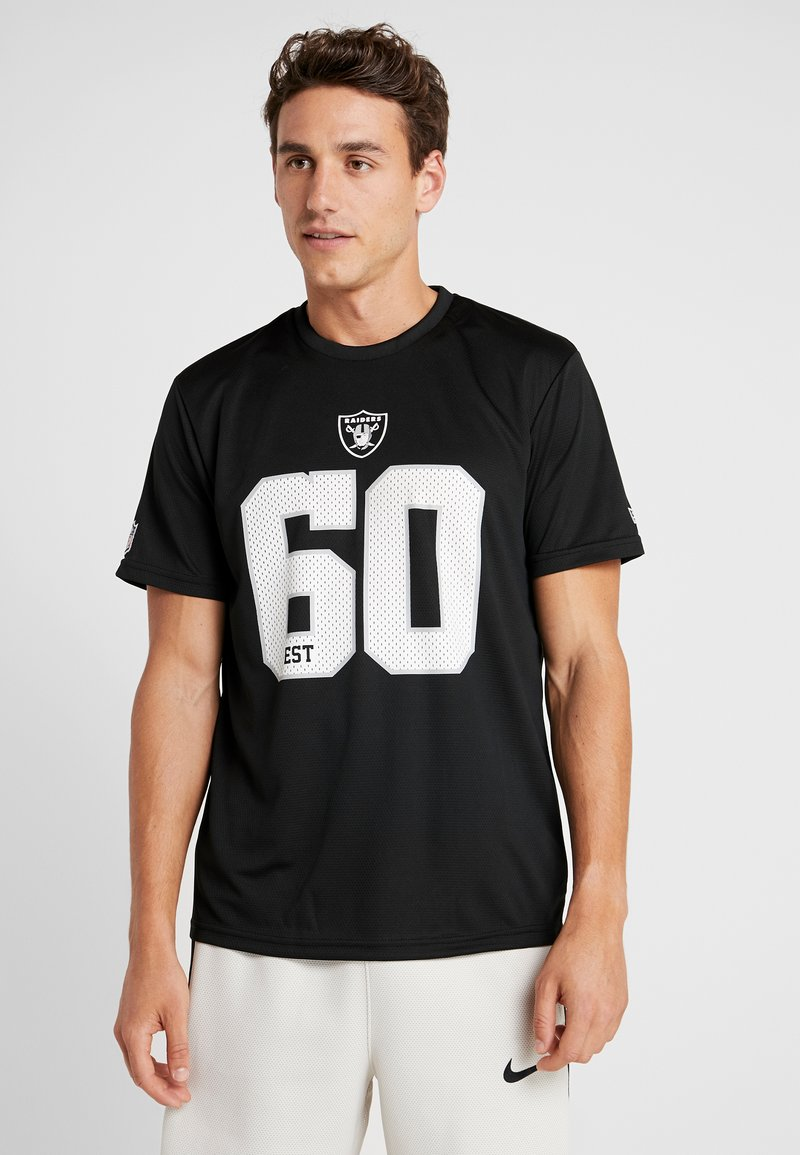 New Era - NFL OAKLAND RAIDERS SUPPORTERS TEE - Print T-shirt - black