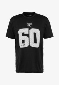 New Era - NFL OAKLAND RAIDERS SUPPORTERS TEE - Print T-shirt - black - 3