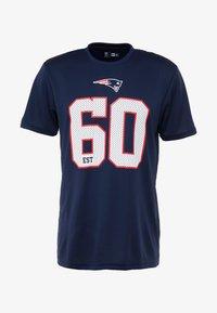 New Era - NFL NEW ENGLAND PATRIOTS SUPPORTERS TEE - T-shirt print - navy - 3