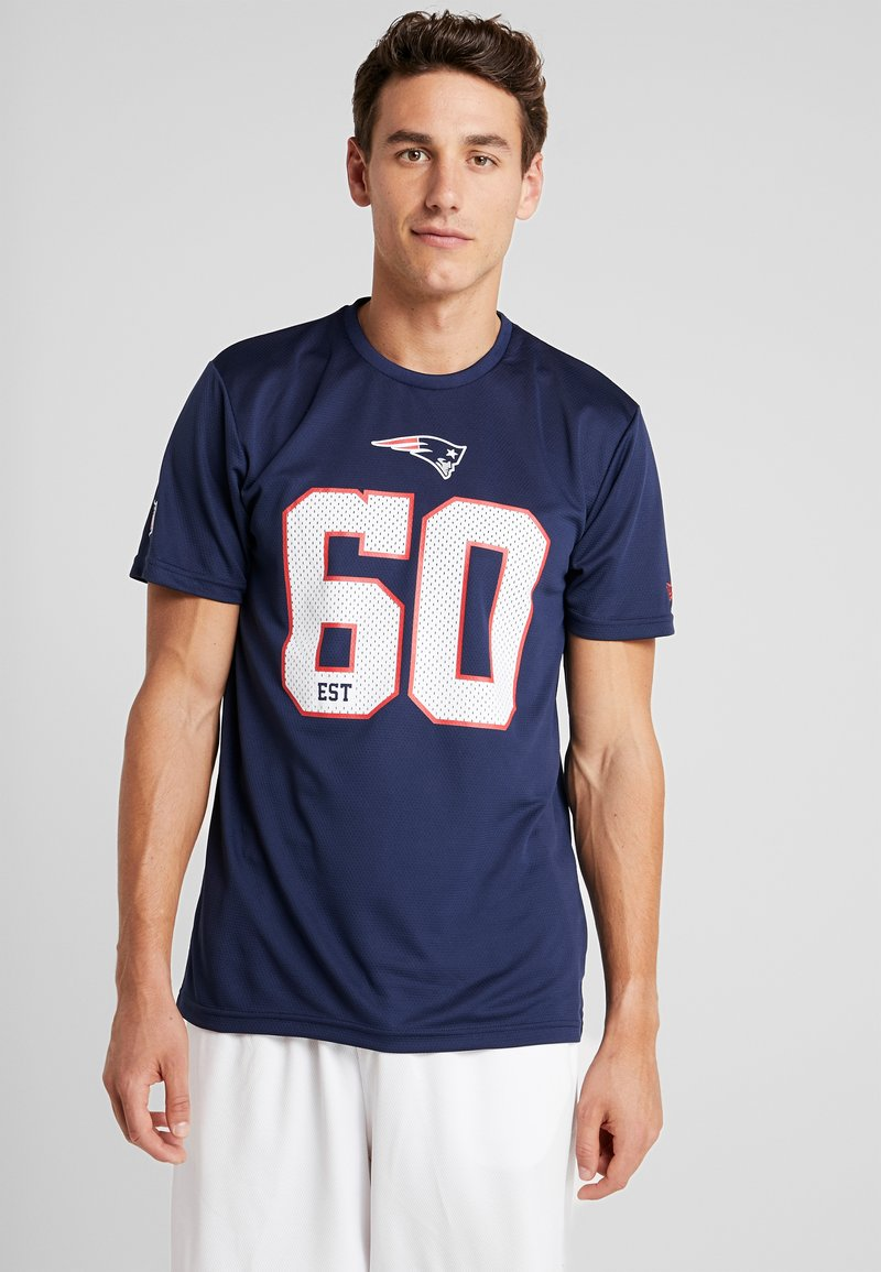 New Era - NFL NEW ENGLAND PATRIOTS SUPPORTERS TEE - T-shirt print - navy