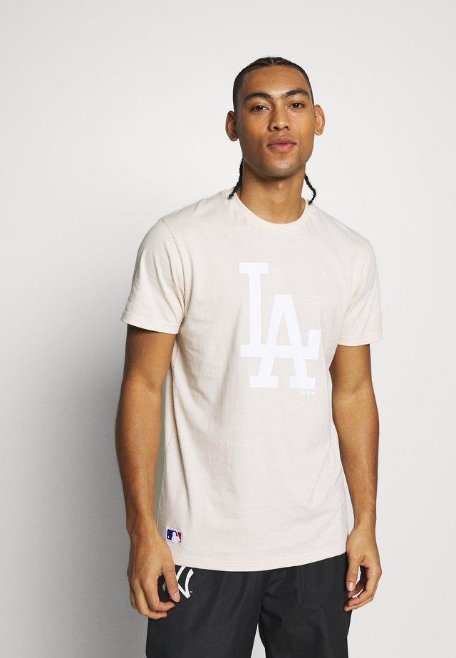 MLB SEASONAL TEAM LOGO TEE LOS ANGELES DODGERS - Article de supporter - beige