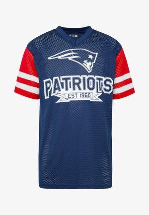 NFL CONTRAST SLEEVE OVERSIZED TEE NEW ENGLAND PATRIOTS - Club wear - dark blue