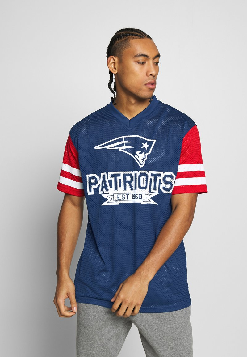 New Era - NFL CONTRAST SLEEVE OVERSIZED TEE NEW ENGLAND PATRIOTS - Club wear - dark blue