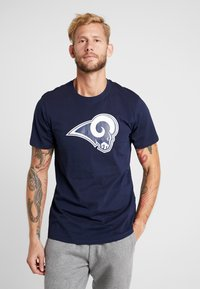 New Era - NFL LOS ANGELES RAMS LOGO TEE - Club wear - navy - 0