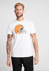 New Era - NFL CLEVELAND BROWNS LOGO TEE - Club wear - white - 0