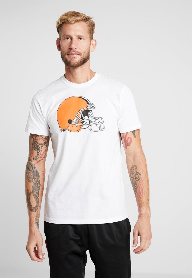 New Era - NFL CLEVELAND BROWNS LOGO TEE - Fanartikel - white
