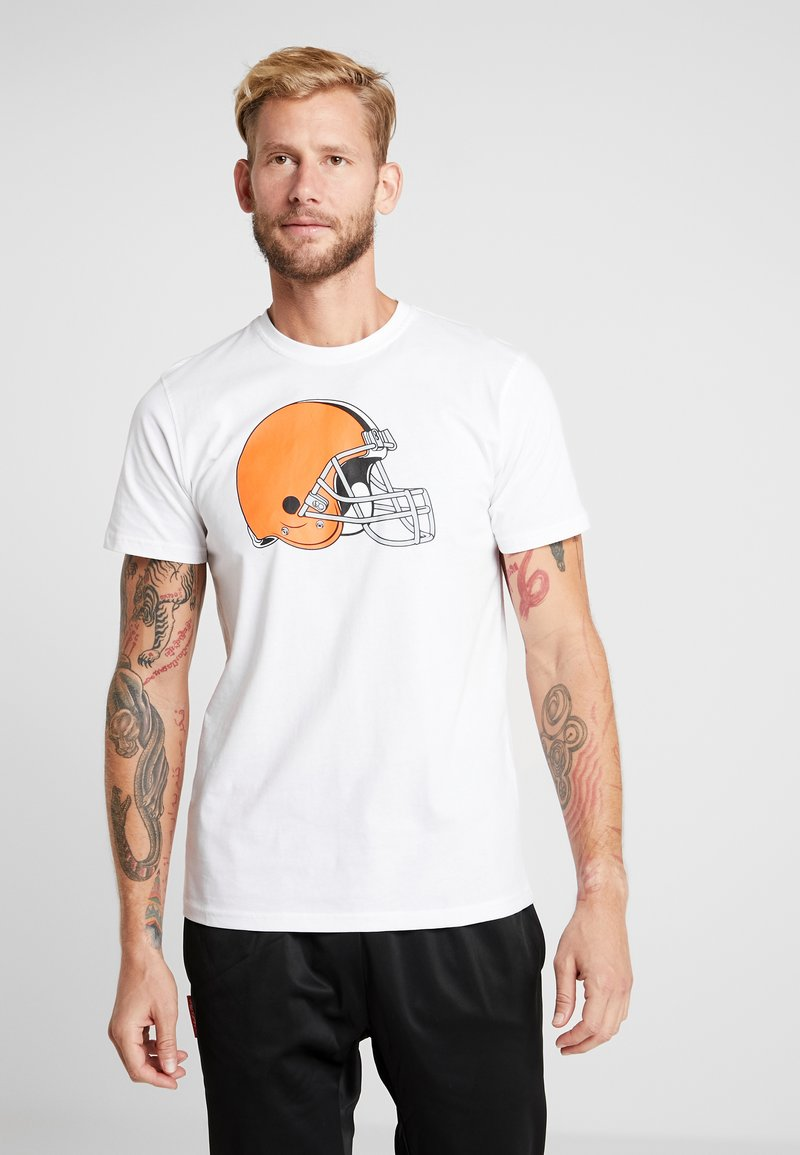 New Era - NFL CLEVELAND BROWNS LOGO TEE - Club wear - white