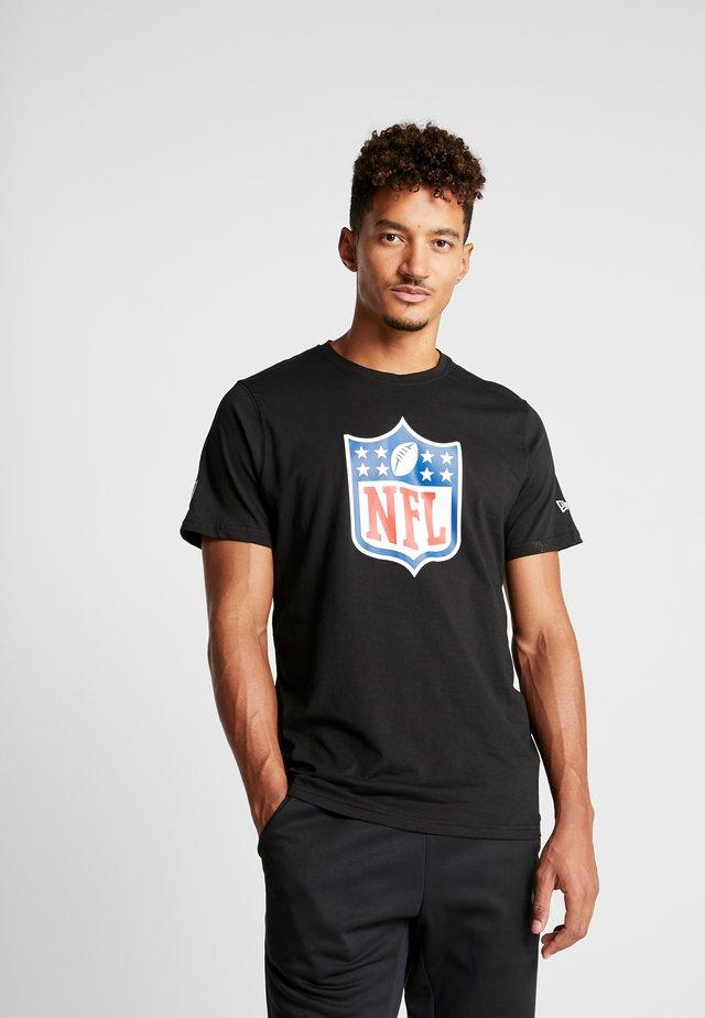 NFL SHIELD BACK TO BLACK TEE - Print T-shirt - black