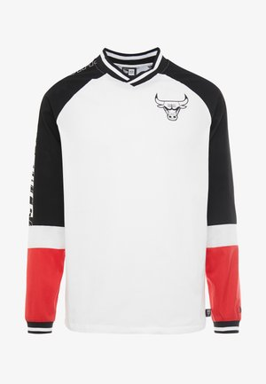 NBA COLOUR BLOCK LONG SLEEVE TEE CHICAGO BULLS - Club wear - optic white/black/front door red