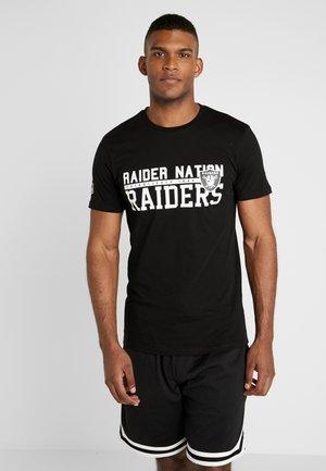 NFL STACKED WORDMARK TEE OAKLAND RAIDERS - Club wear - black