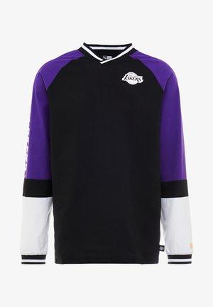 NBA COLOUR BLOCK LONG SLEEVE LOS ANGELES LAKERS - Article de supporter - black/true purple/optic white