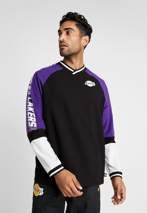 NBA COLOUR BLOCK LONG SLEEVE LOS ANGELES LAKERS - Club wear - black/true purple/optic white