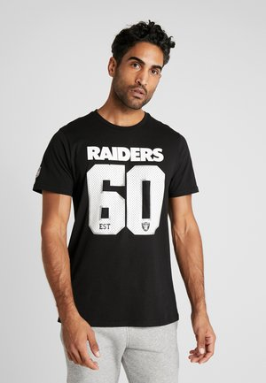 NFL SUPPORTERS TEE OAKLAND RAIDERS - T-shirt print - black