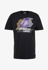New Era - NBA LOGO REPEAT TEE LOS ANGELES LAKERS - Print T-shirt - black - 4