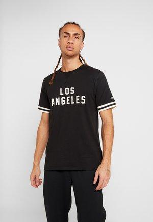NBA WORDMARK TEE LOS ANGELES LAKERS - Print T-shirt - black