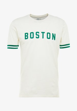 NBA WORDMARK TEE BOSTON CELTICS - Printtipaita - off white