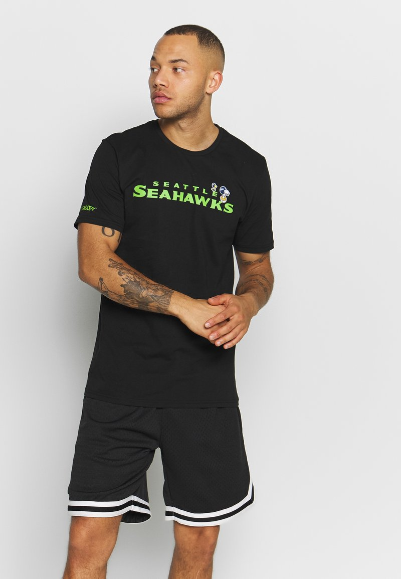 New Era - NFL SNOOPY TEE SEATLE SEAHAWKS - Klubtrøjer - black