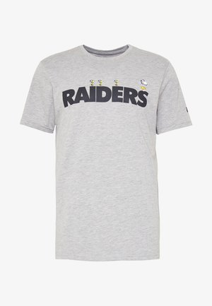 NFL SNOOPY TEE OAKLAND RAIDERS - T-shirt z nadrukiem - gray