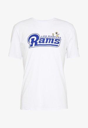 NFL SNOOPY TEE ST. LOUIS RAMS - Fanartikel - white