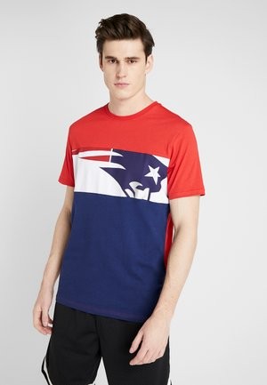 NFL NEW ENGLAND PATRIOTS PANNELLED SHORT SLEEVE - Article de supporter - dark blue