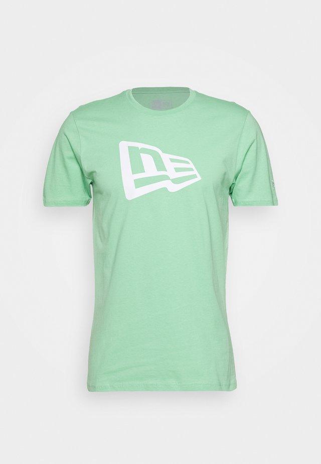 FLAG TEE - T-Shirt print - mottled teal