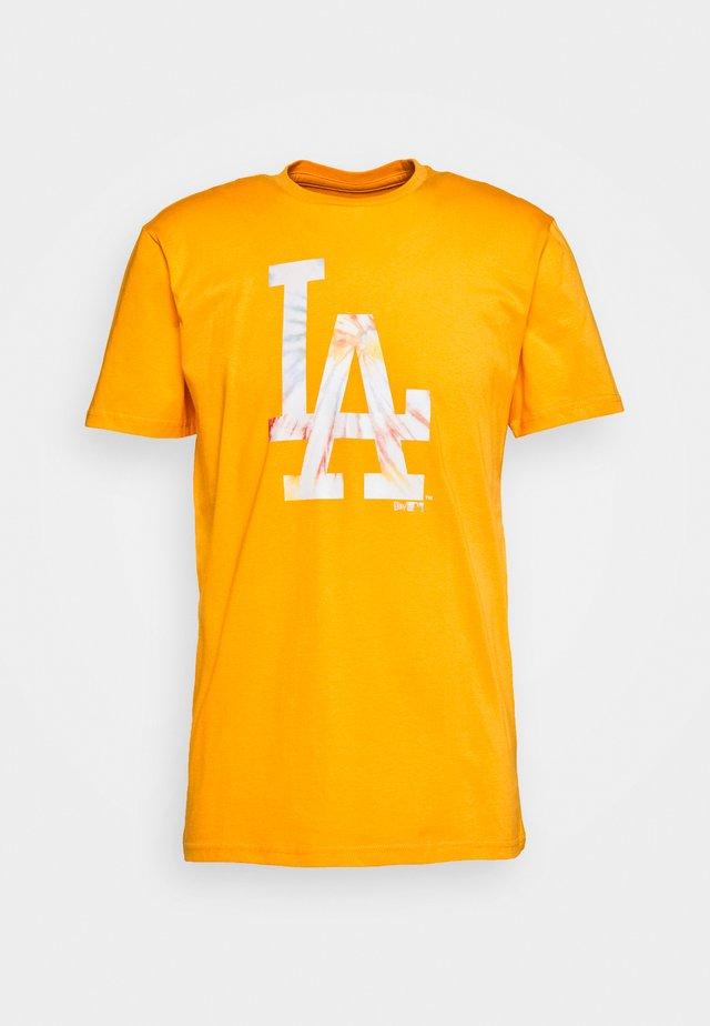 MLB INFILL TEAM LOGO TEE LOS ANGELES DODGERS - T-Shirt print - yellow