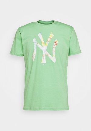 MLB INFILL TEAM LOGO TEE NEW YORK YANKEES - Print T-shirt - mottled teal