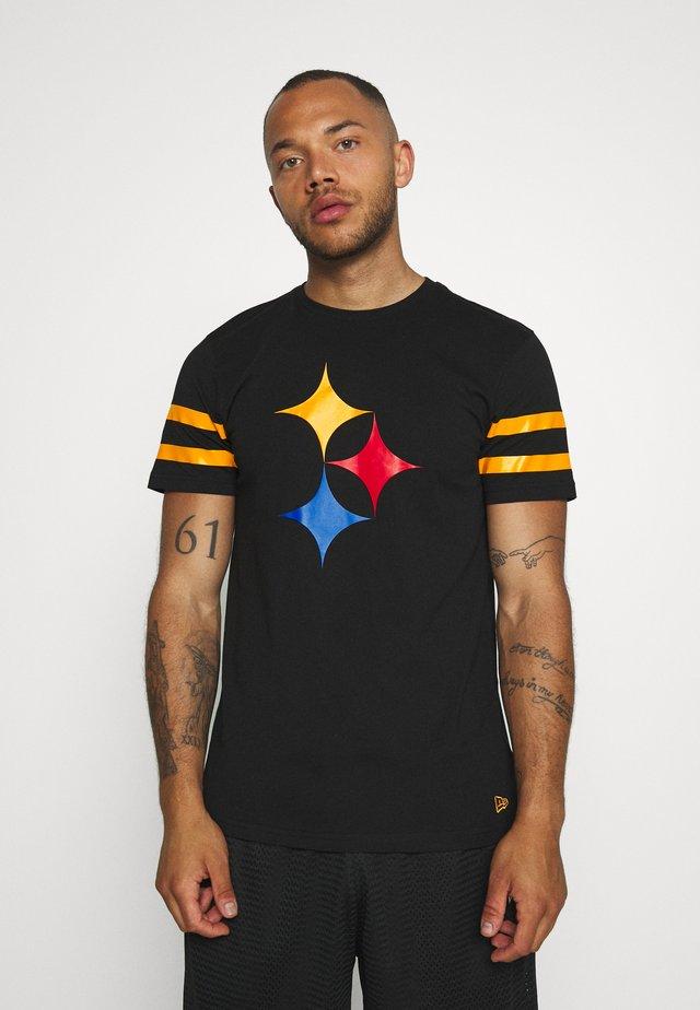 NFL ELEMENTS TEE PITTSBURGH STEELERS - Club wear - black