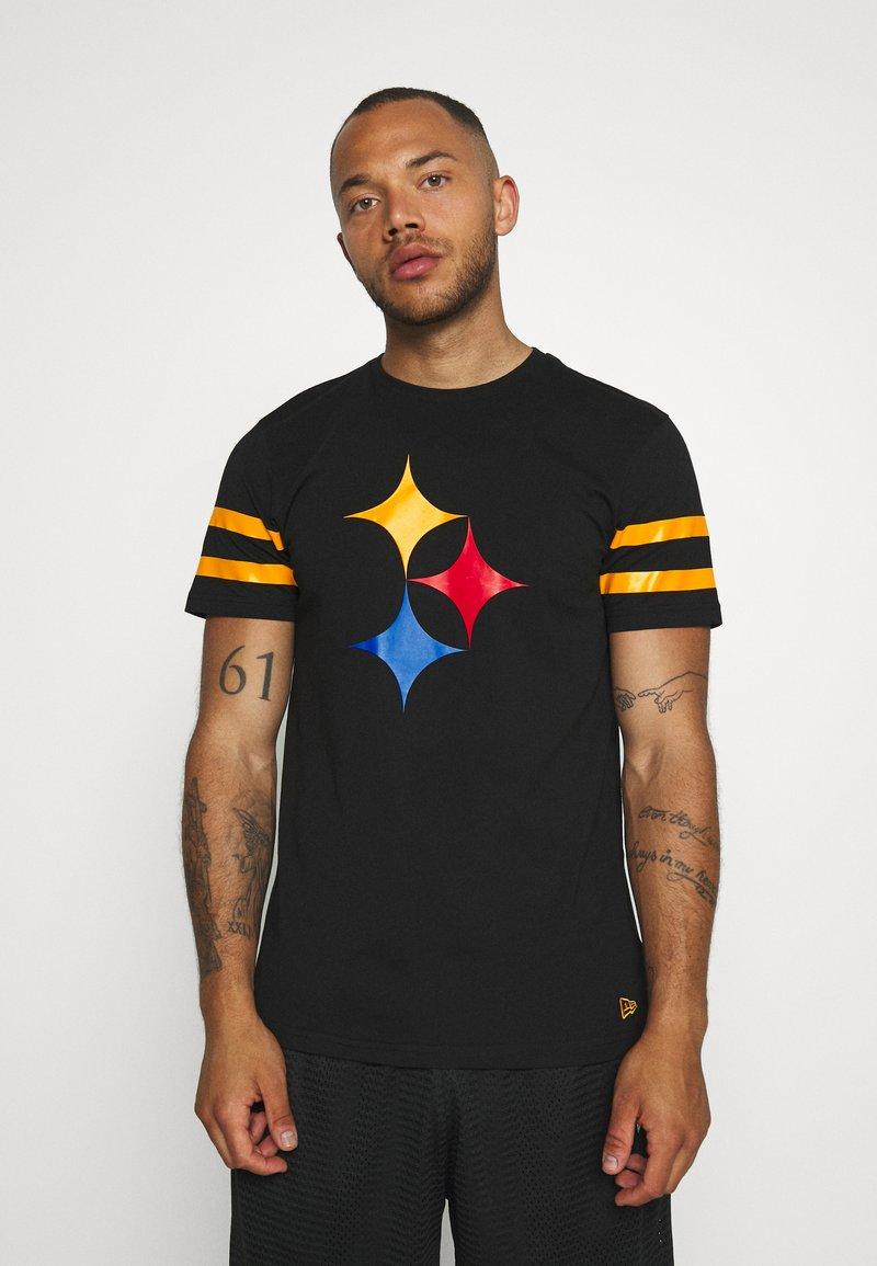 New Era - NFL ELEMENTS TEE PITTSBURGH STEELERS - Klubové oblečení - black