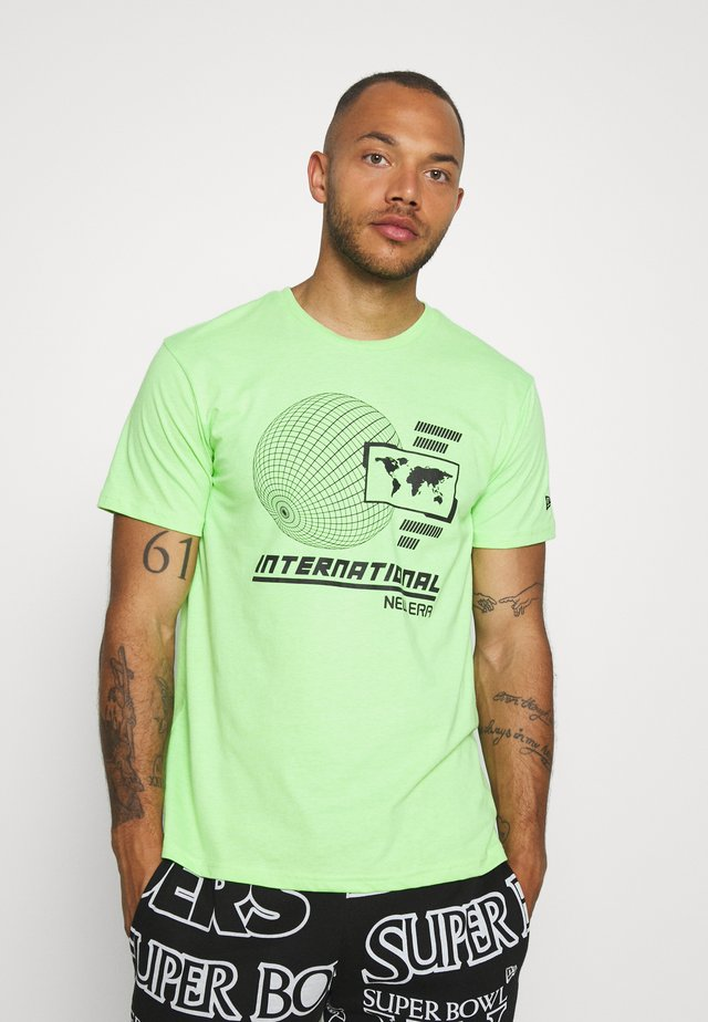 GRAPHIC TEE  - T-shirts med print - light green