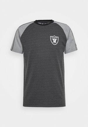 NFL RAGLAN TEE OAKLAND RAIDERS - Club wear - black