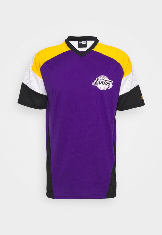 NBA OVERSIZED TEE LOS ANGELES LAKERS - Klubové oblečení - purple