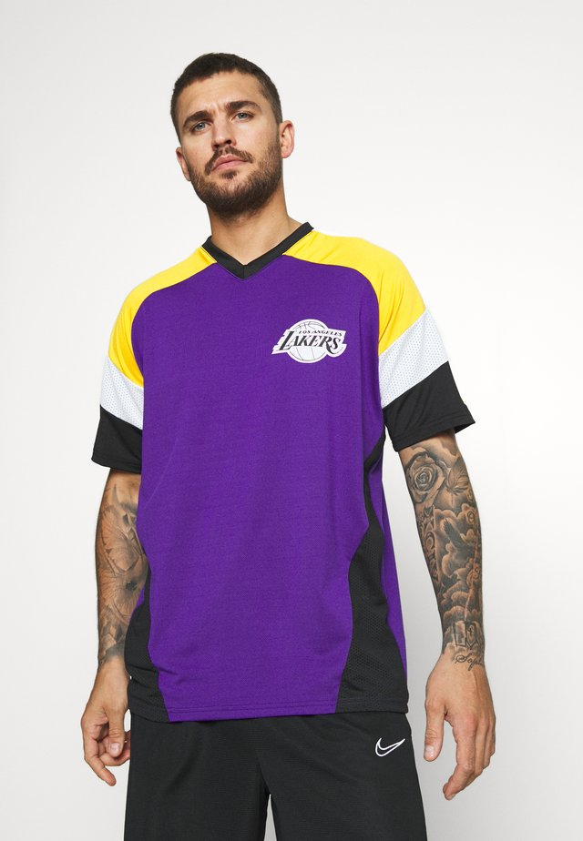 NBA OVERSIZED TEE LOS ANGELES LAKERS - Artykuły klubowe - purple