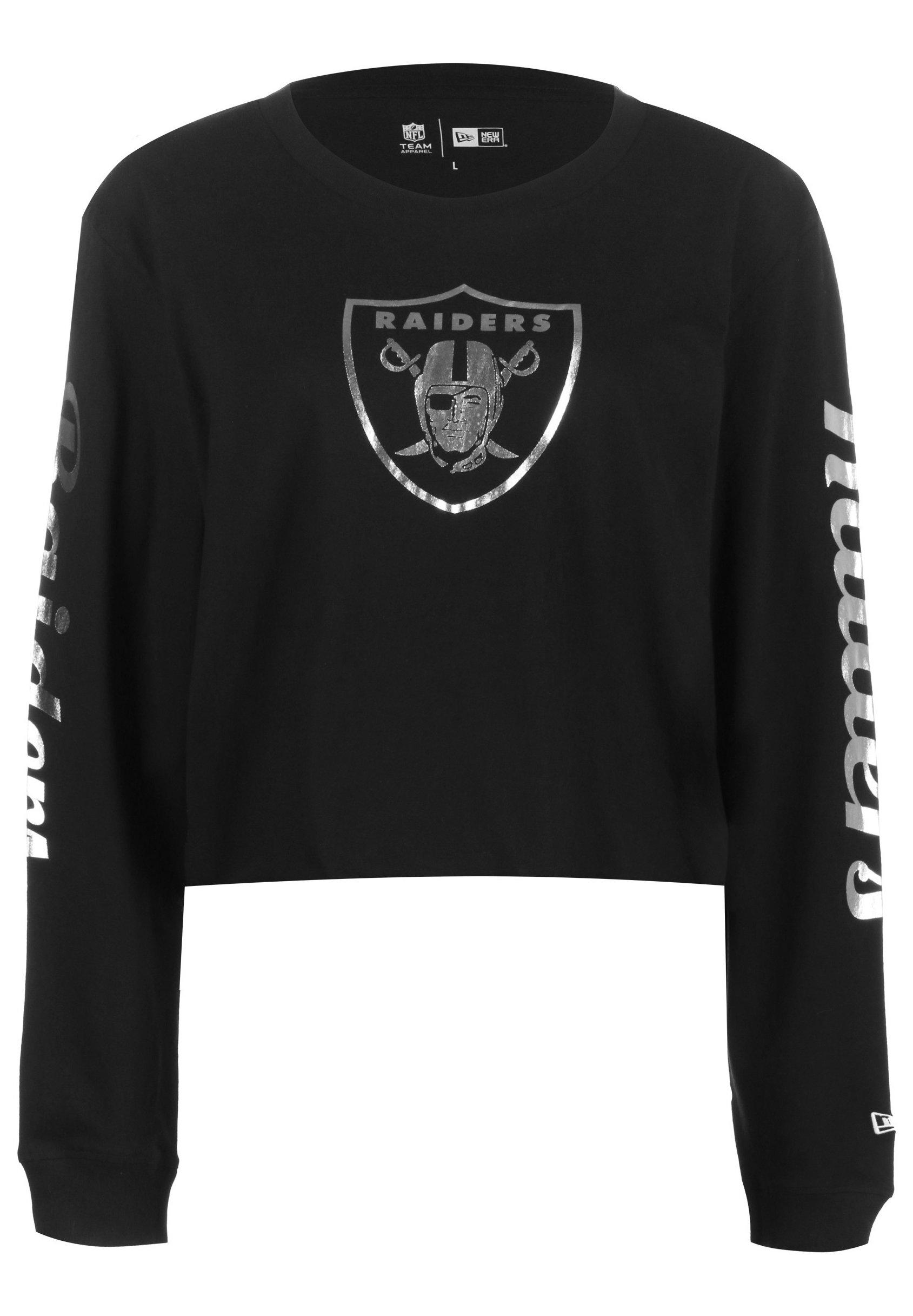 New Era Properties Oakland Raiders - Maglietta A Manica Lunga Black