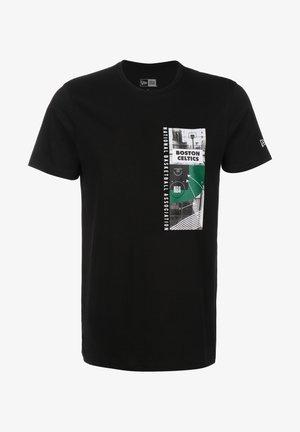PHOTO PRINT BOSTON CELTICS - T-shirt imprimé - black