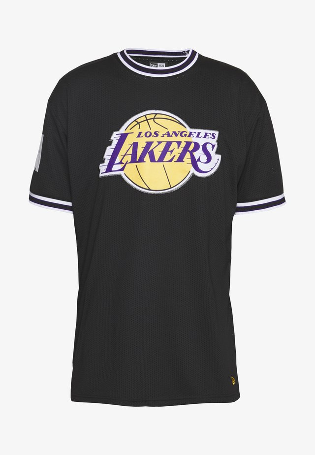 NBA LOS ANGELES LAKERS OVERSIZED APPLIQUE TEE - T-shirt med print - black