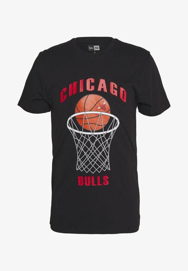 NBA CHICAGO BULLS BASKETBALL TEE - Club wear - black